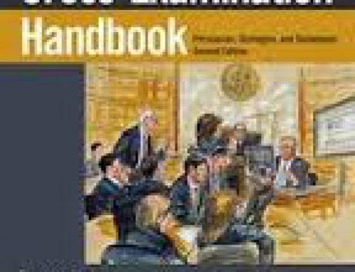 NEW EDITION OF CROSS-EXAMINATION HANDBOOK